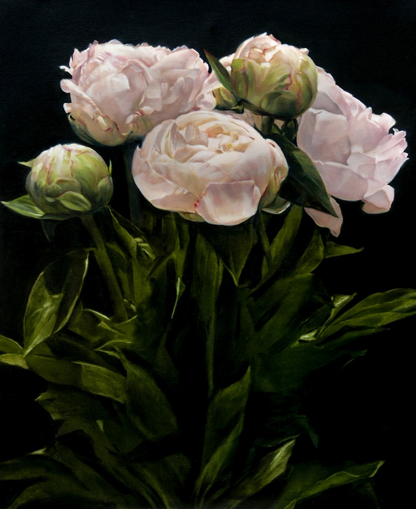 thomas darnell bouquet of peonies 73x61cm