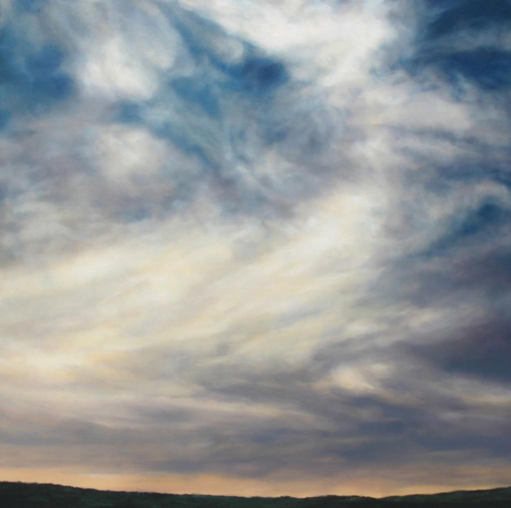 thomas darnell swirly sky 150x150cm
