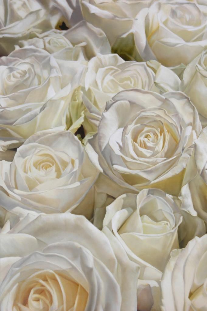 thomas darnell white roses 194x130cm